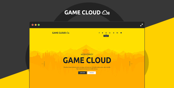 Game Cloud - Muse Template - Muse Templates