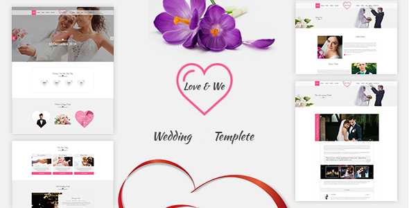 Love & We Wedding HTML Template - Wedding Site Templates