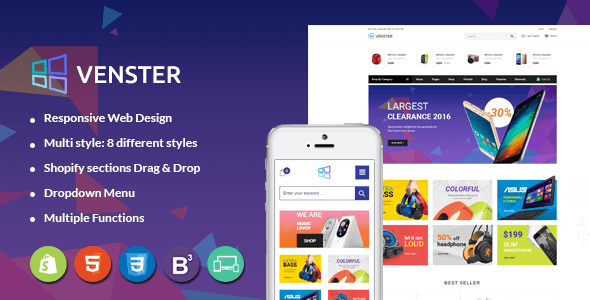 Venster - Computer Shopify Theme - Sections Page Builder for Digital, Electronics, High-tech Store - Technology Shopify