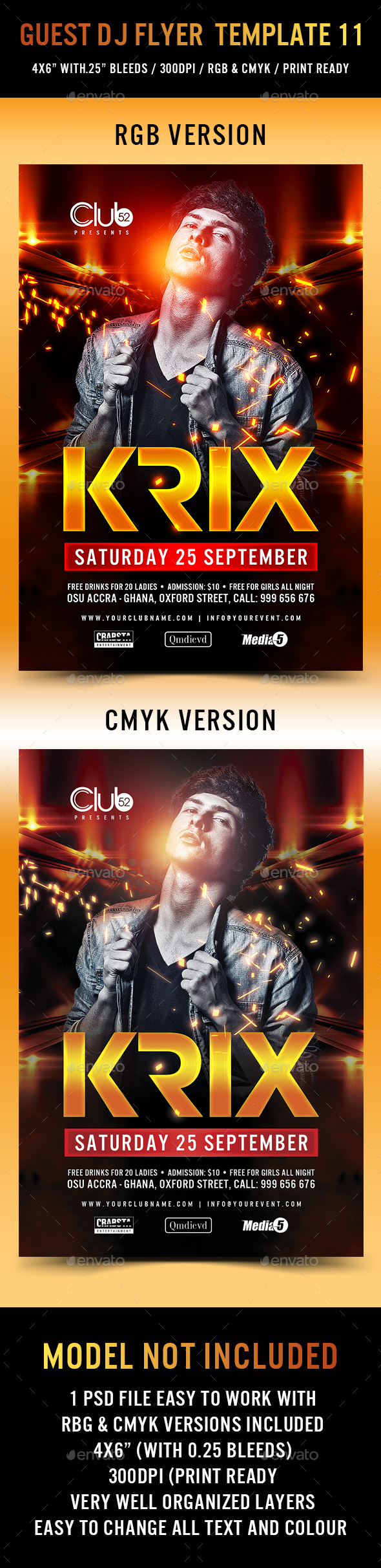 Guest DJ Flyer Template 11 - Events Flyers