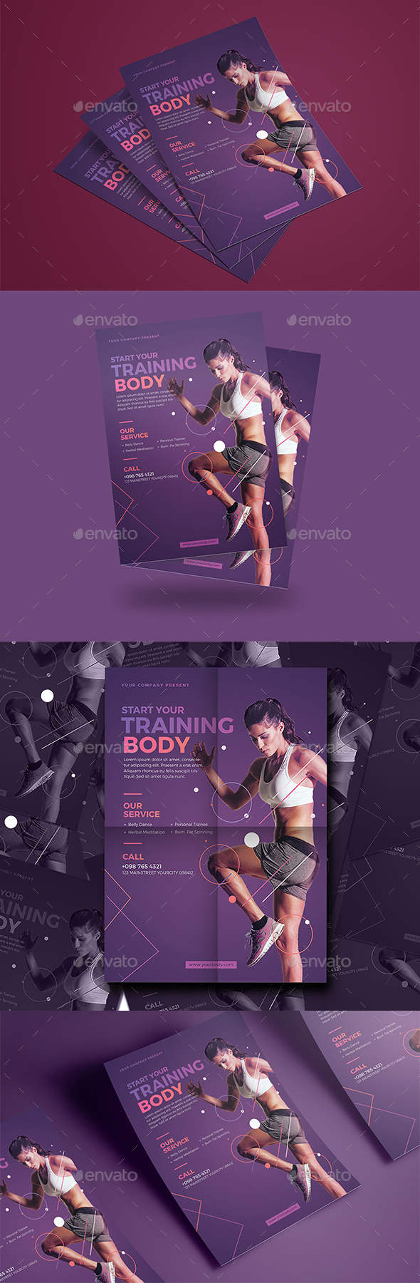 Modern Fitness Flyer - Events Flyers