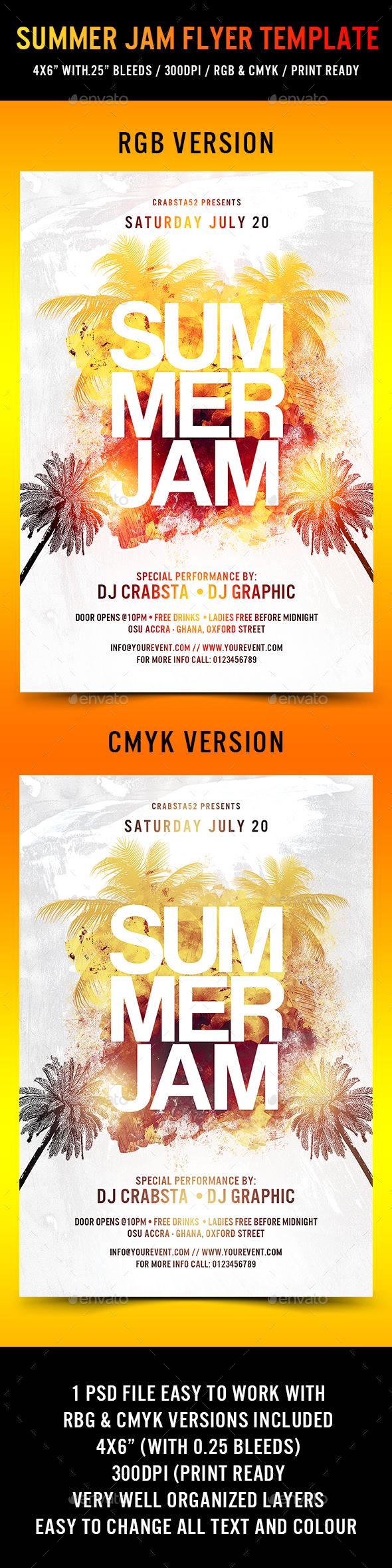 Summer Jam Flyer Template - Events Flyers