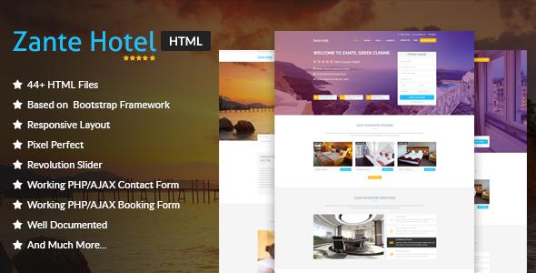 Zante Hotel - Hotel & Resort HTML Template