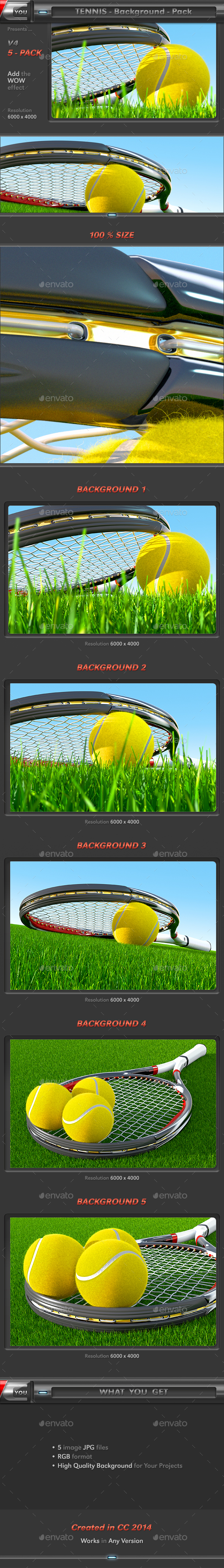 Tennis Background Pack 4 - 3D Backgrounds