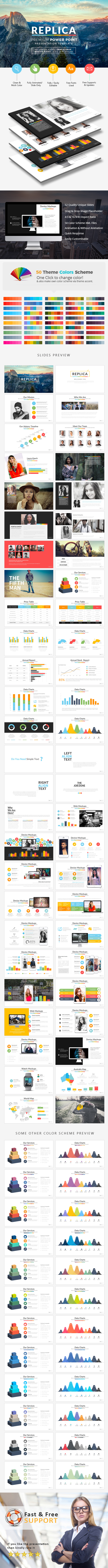 Replica Power Point Presentation - Business PowerPoint Templates