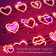 Valentine Neon Hearts - GraphicRiver Item for Sale