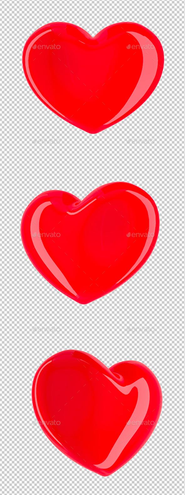 Heart Set - Objects 3D Renders