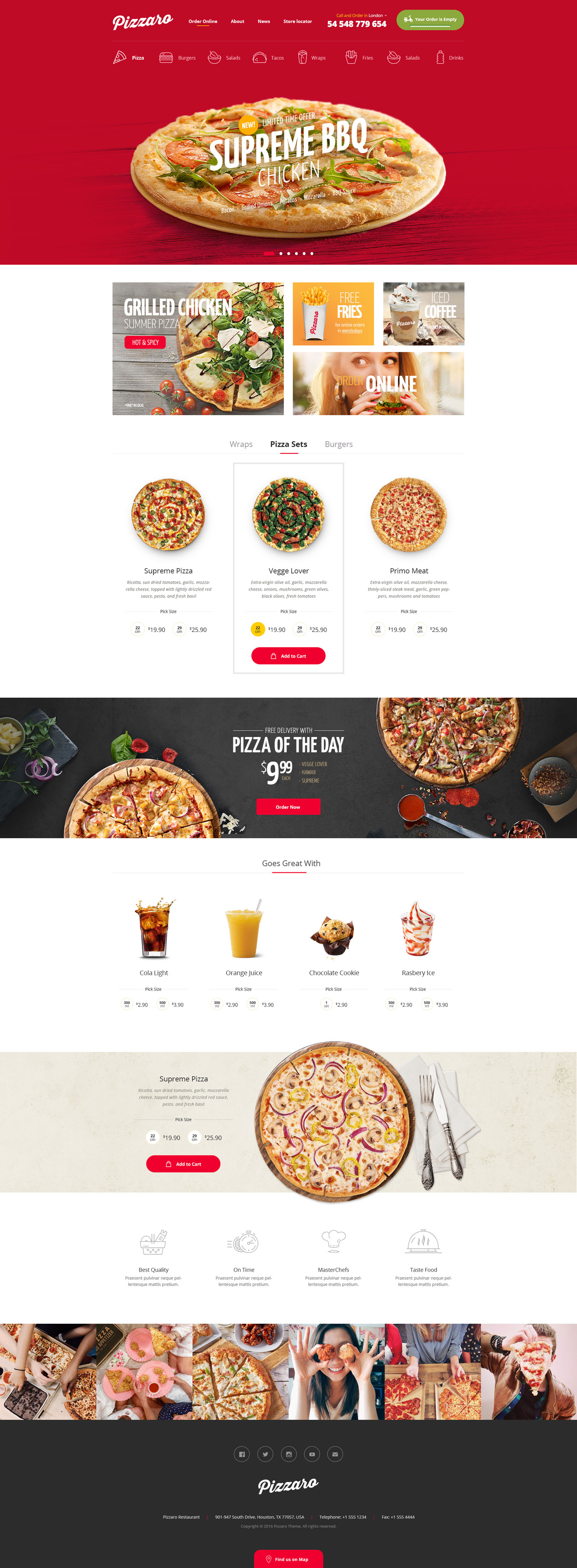 Pizzaro - Fast Food & Restaurant HTML template by madrasthemes ...