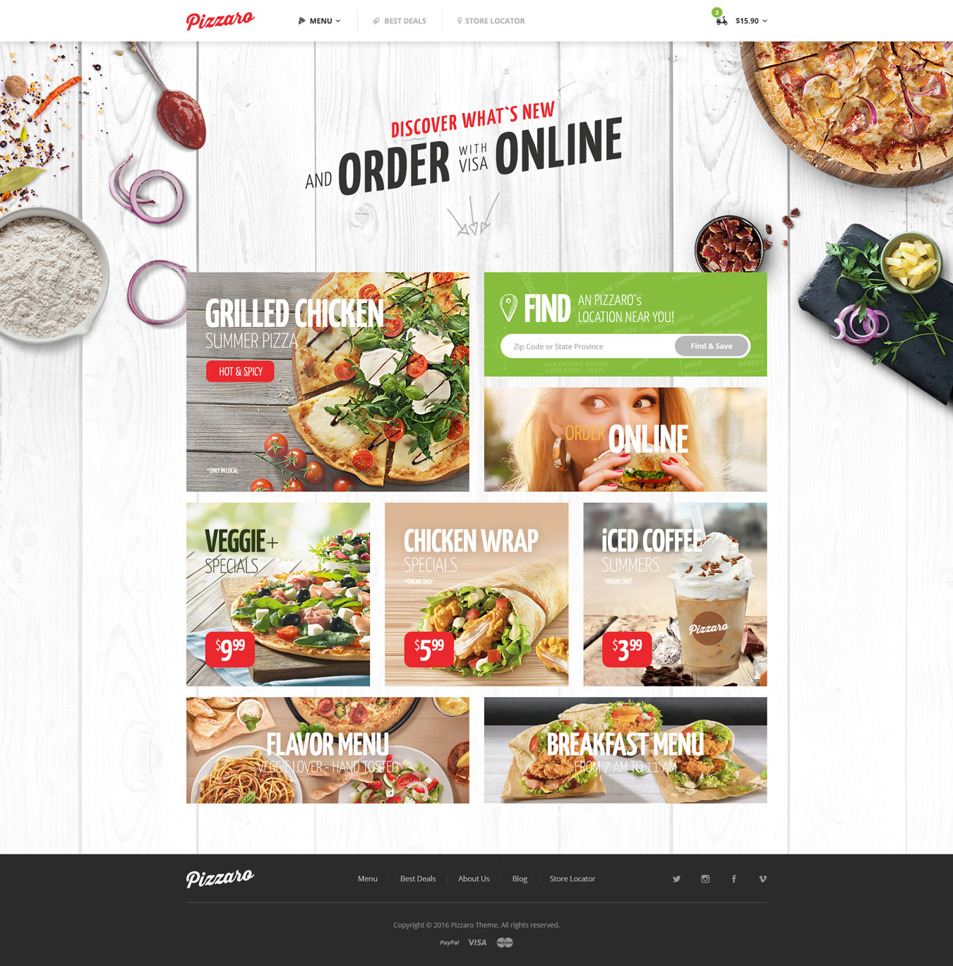 Pizzaro - Fast Food & Restaurant HTML template