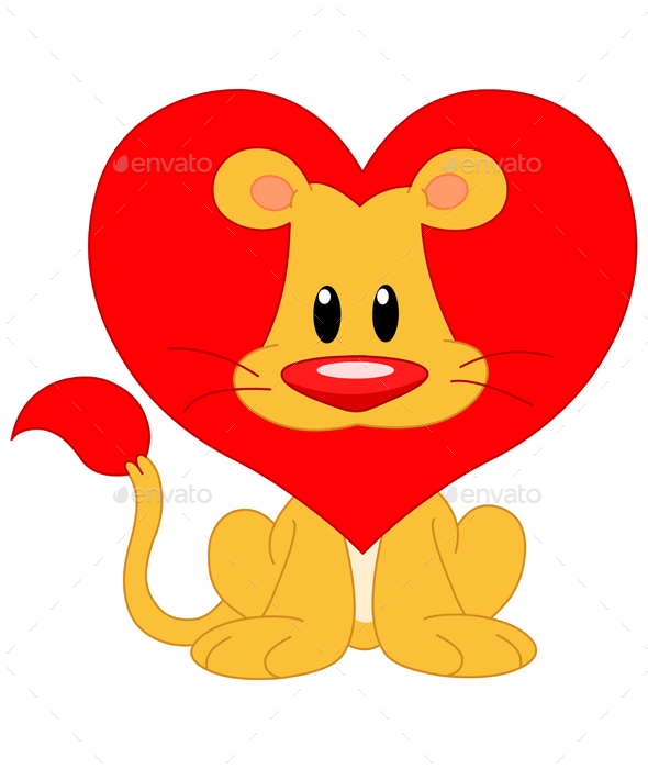 Love Lion - Valentines Seasons/Holidays