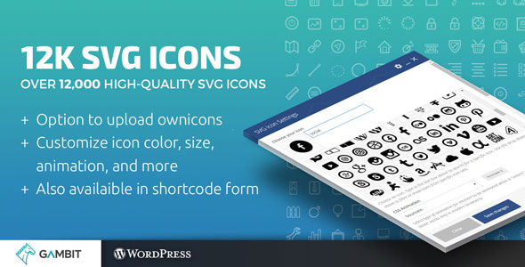 12k SVG Icons for WPBakery Page Builder (formerly Visual Composer)