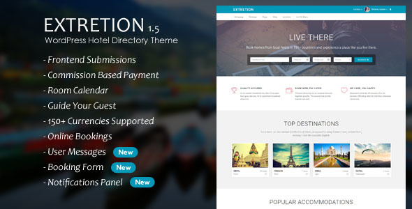 Extretion – WordPress Hotel Directory Theme
