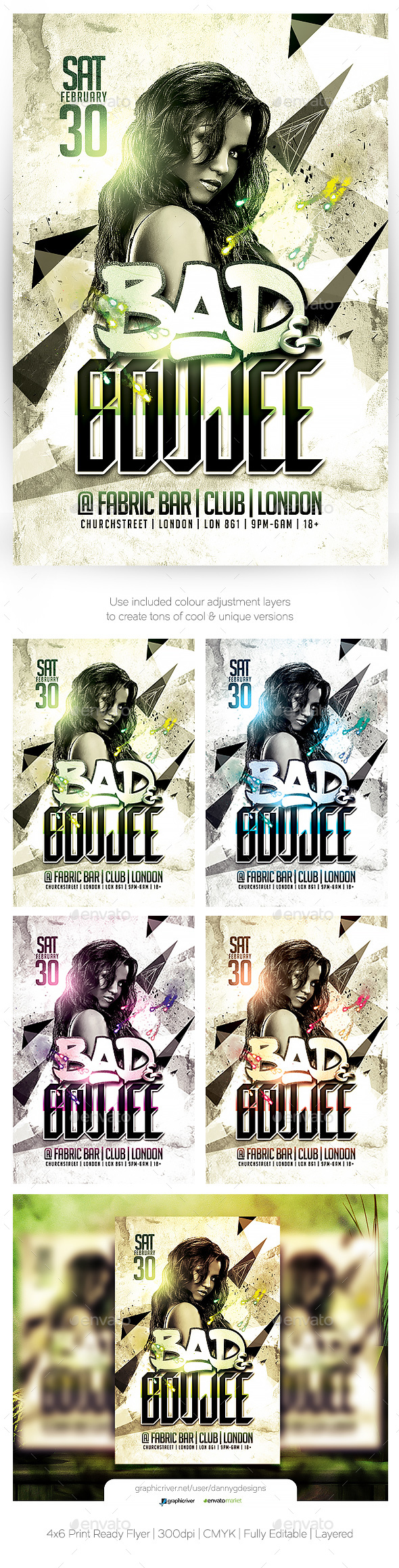 Bad and Boujee Flyer Template - Clubs & Parties Events