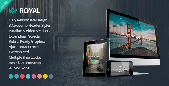 Royal Responsive One Page Parallax Template By Athenastudio