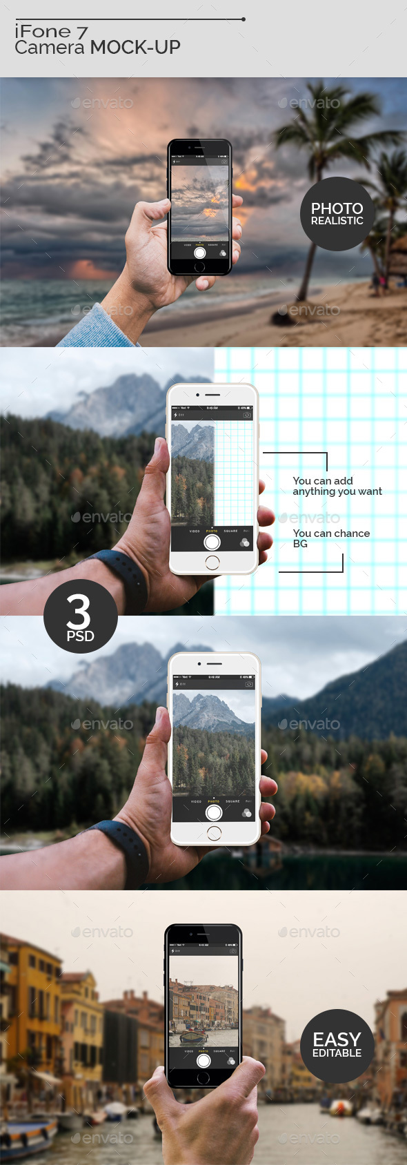 iFone 7 Camera Mock-Ups - Mobile Displays