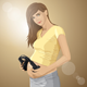 Pregnant Woman with Headphones - GraphicRiver Item for Sale