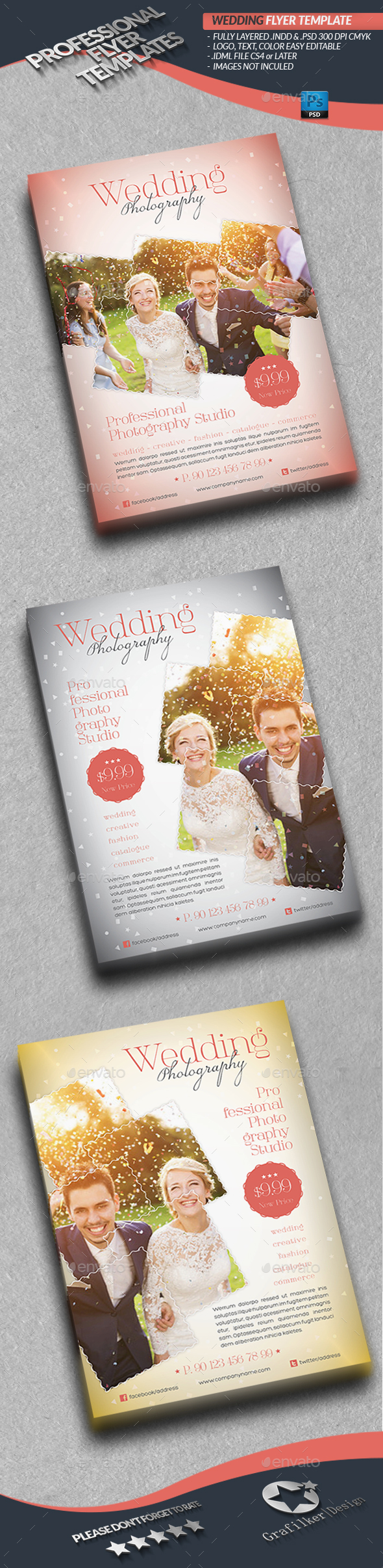 Wedding Photography Flyer Template - Corporate Flyers