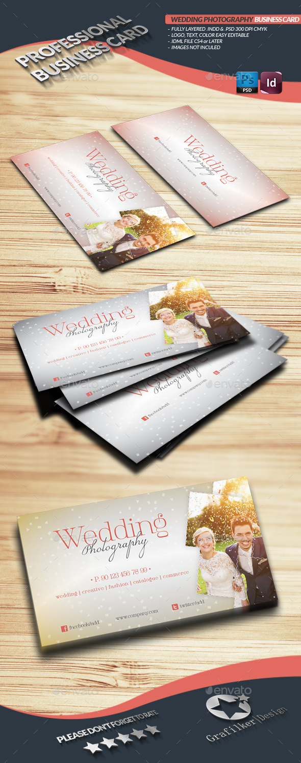 Wedding Photography Business Card Template - Industry Specific Business Cards