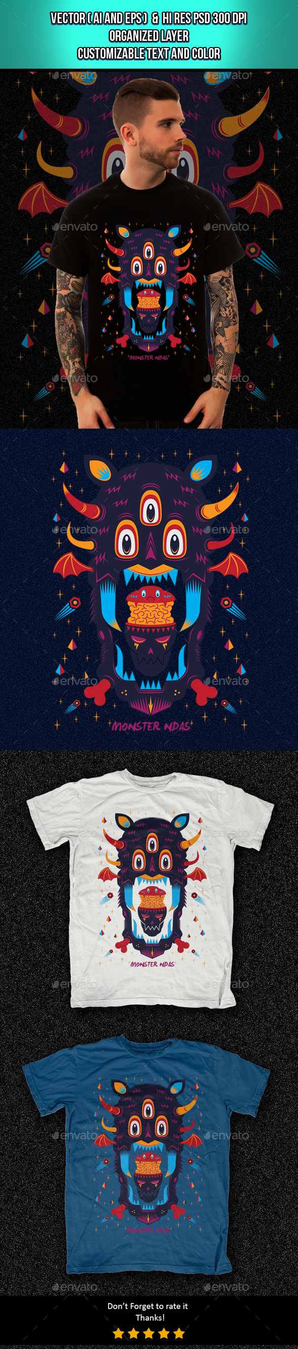Monster Ndas - Grunge Designs