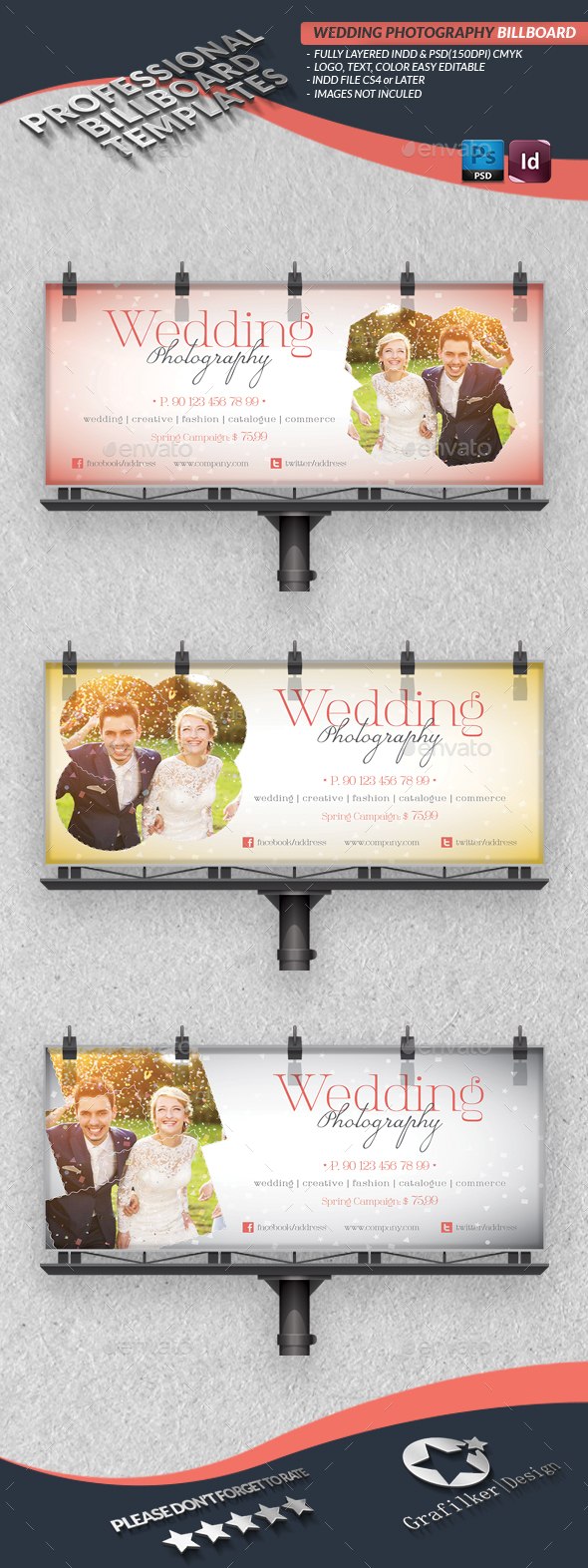 Wedding Photography Billboard Template - Signage Print Templates
