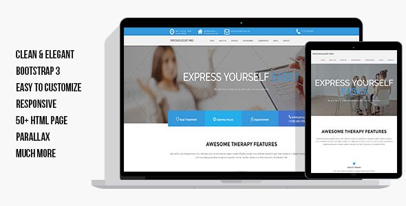 Psychologist Pro – Psychologist, Psychotherapist, Psychology, Counseling HTML Template