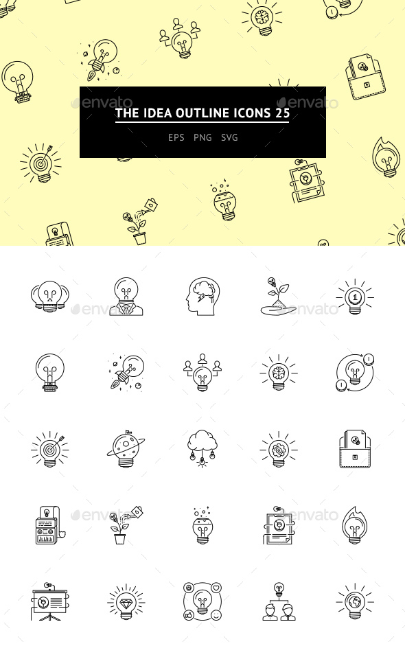 The Idea Outline Icons 25 - Web Icons