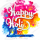 Happy Holi Party Flyer