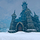 Terrible Fantastic Castle In Winter - VideoHive Item for Sale