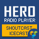Hero - Shoutcast and Icecast Radio Player With History - Visual Composer Addon