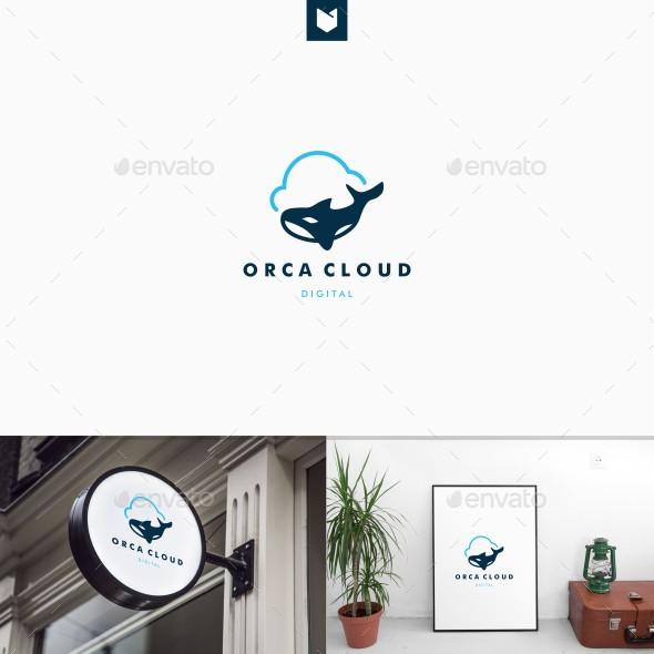 Orca Cloud Logo - Animals Logo Templates