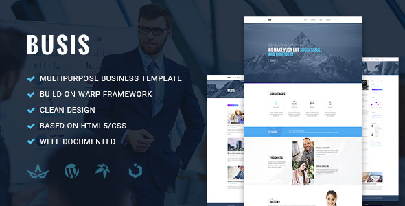 Busis — Clean Multipurpose Business & Corporate Responsive WordPress Theme - Business Corporate
