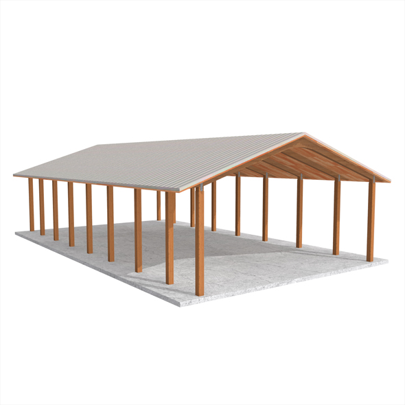 Wooden shelter 01 - 3DOcean Item for Sale