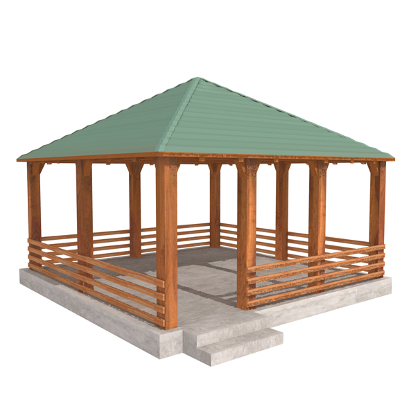 Wooden Shelter 04 - 3DOcean Item for Sale