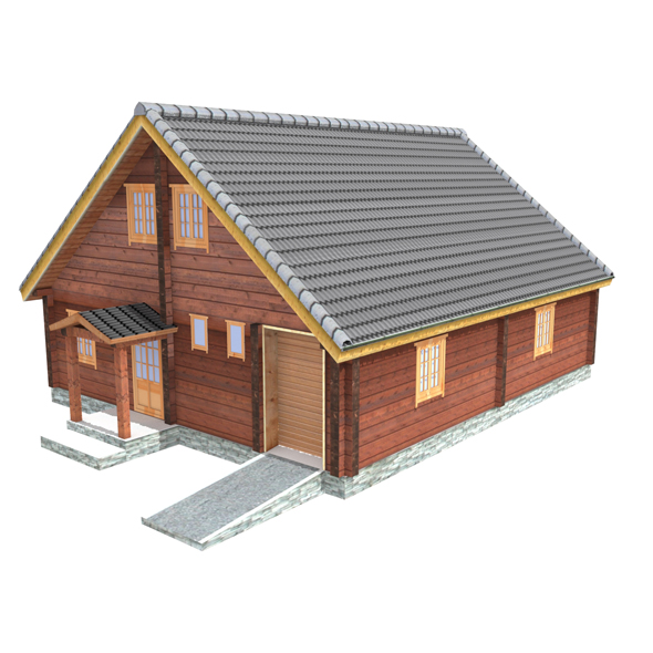 Wooden Shelter 05 - 3DOcean Item for Sale