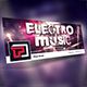 Electro Music Facebook Cover Template