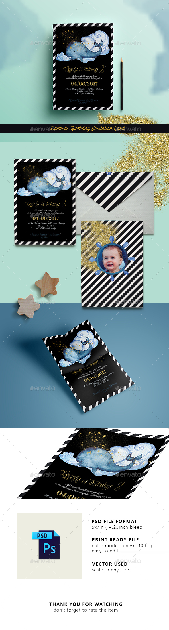 Nautical Birthday Invitation Card - Weddings Cards & Invites