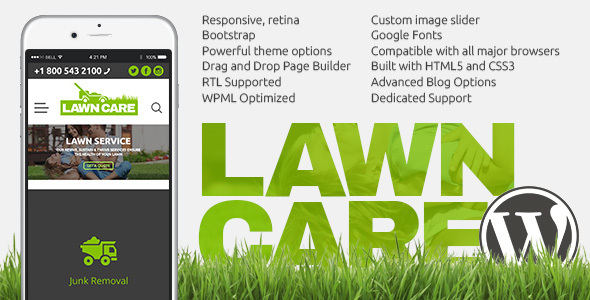 Lawn Care services - WordPress website theme - Miscellaneous WordPress