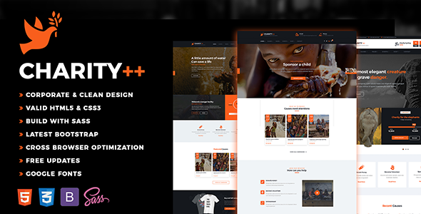 Charity Plus – Nonprofit, Crowdfunding & Charity HTML5 Template