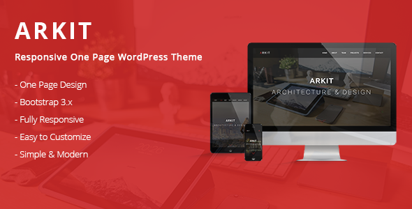 Arkit – Responsive One Page WordPress Theme