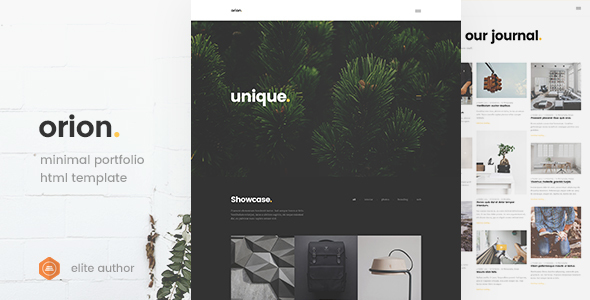 Orion - Minimal Portfolio HTML5 Template - Portfolio Creative