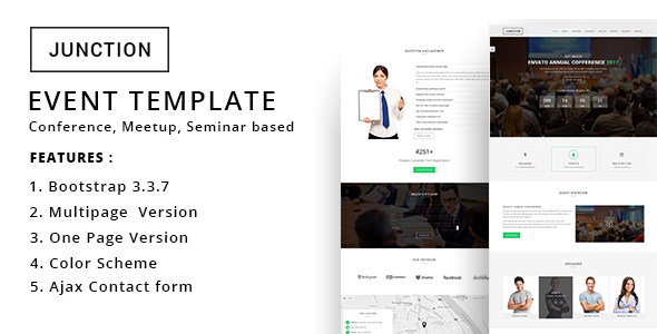 Junction – Event Meeting Conference Business Template