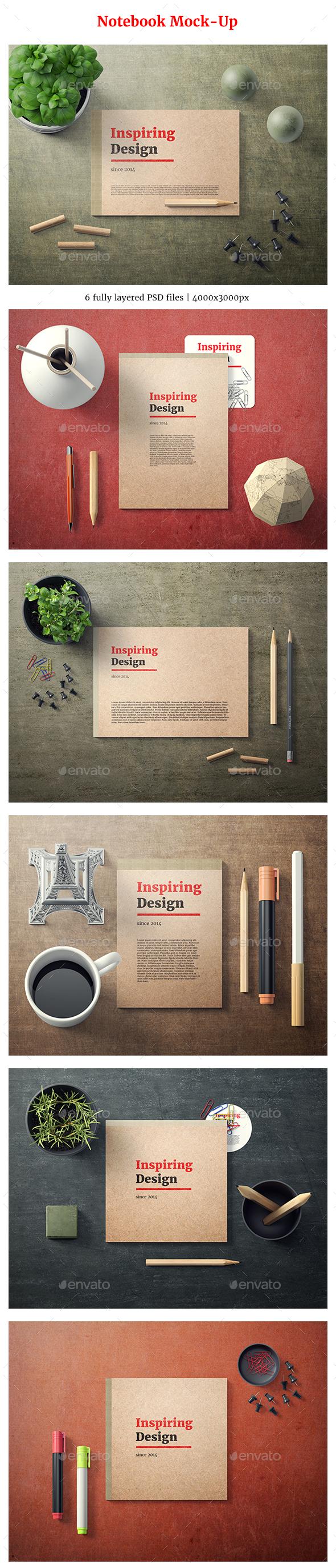 Notebook Mock-Up - Stationery Print