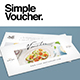 Restaurant Clean Voucher - GraphicRiver Item for Sale