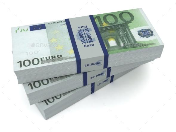 Euro Money Bills 3d İllustration - Business Illustrations