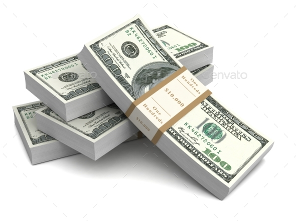 Money Bills 3d İllustration - Business Illustrations