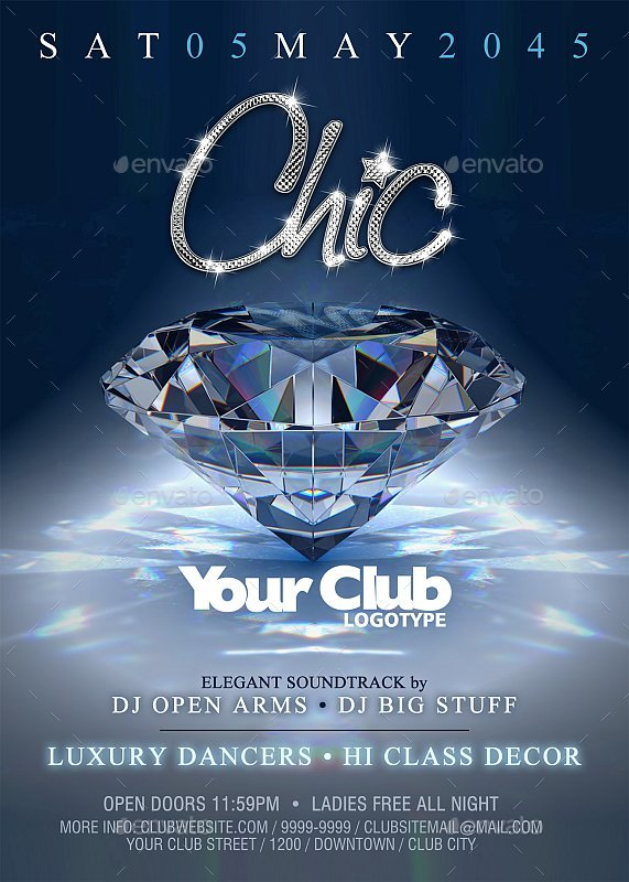 Chic - Party Flyer / Poster by pabloandradearte   GraphicRiver