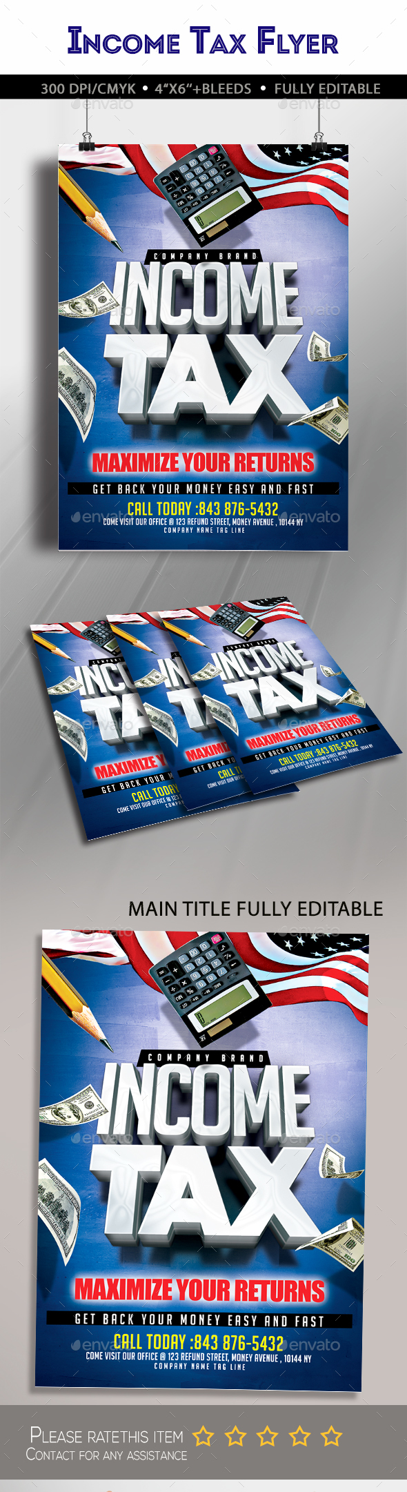 Income Tax Flyer - Clubs & Parties Events