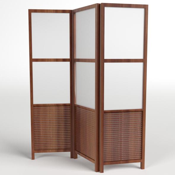 Folding Screen Panel Room Divider - 3DOcean Item for Sale