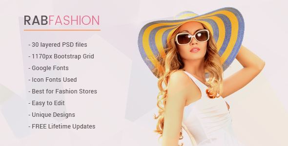 RAB – Fashion eCommerce PSD Template