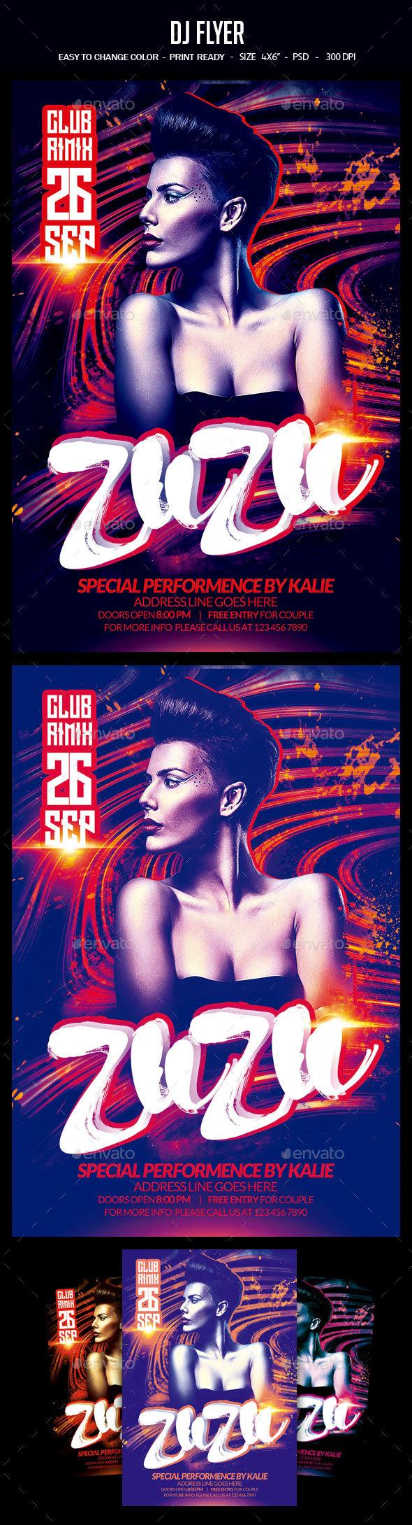 Dj Flyer - Clubs & Parties Events